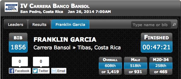 Carrera Bansol Completada!