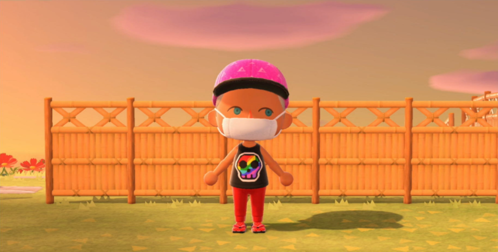 "Diseño ""Colorful Skull"" para Animal Crossing"